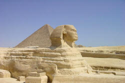 Sphinx in Giza, Egypt.